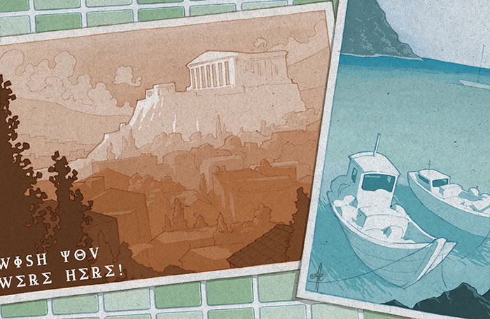 Greek holiday postcards - Ainsley Knott