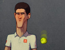 Novak Djokovic Illustration